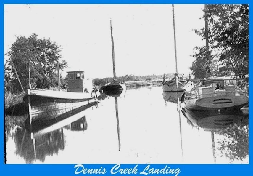 Boats moored at Dennis Creek Landing