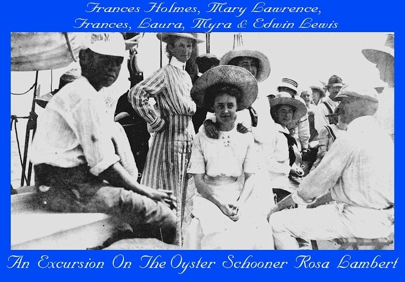 People on Oyster schooner Rosa Lamber