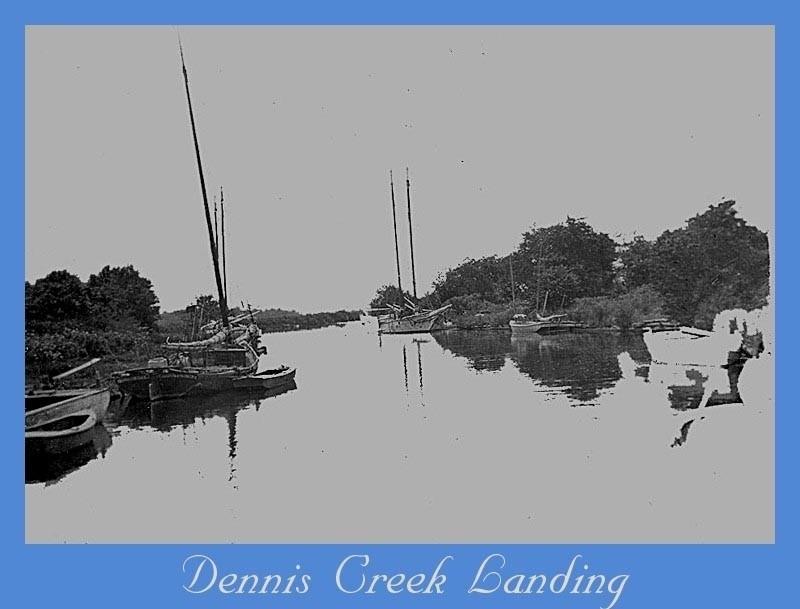 Old boats moored at Dennis Creek Landing
