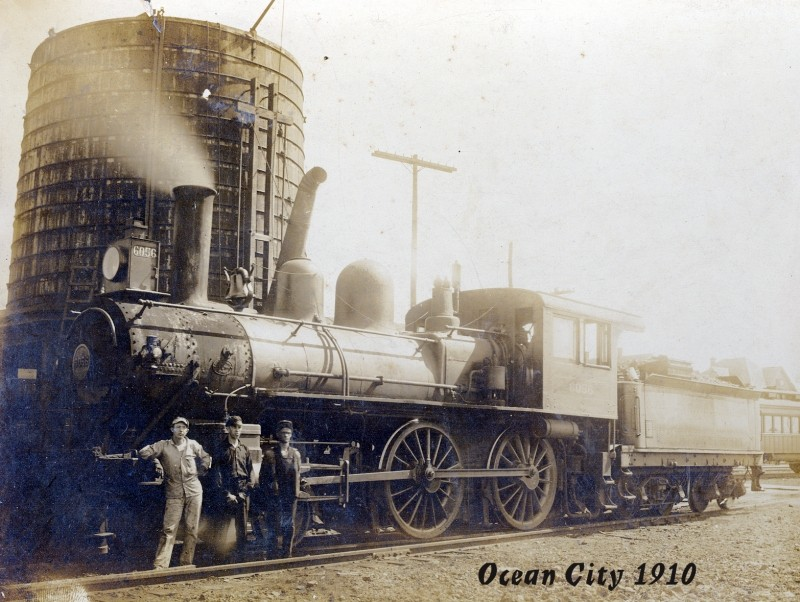 Vintage photo of train engine from 1910