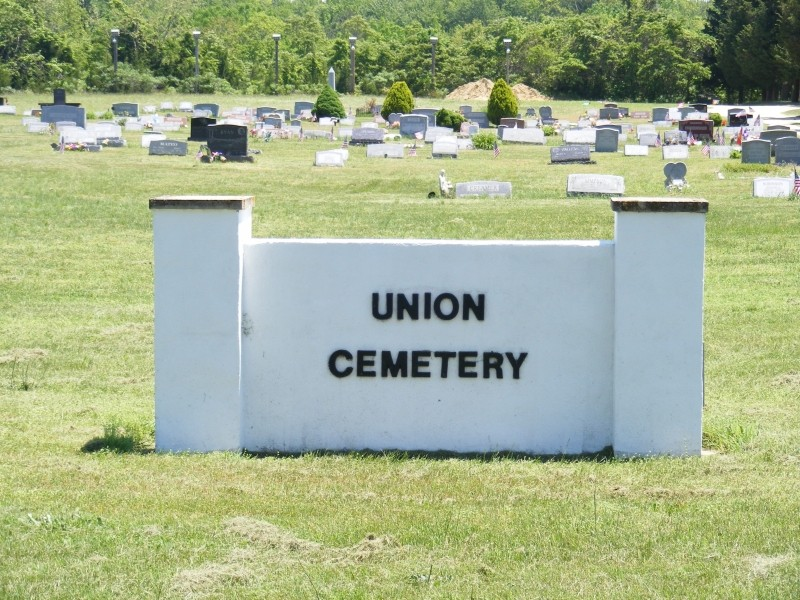 Entrance sign to Union Cemetery