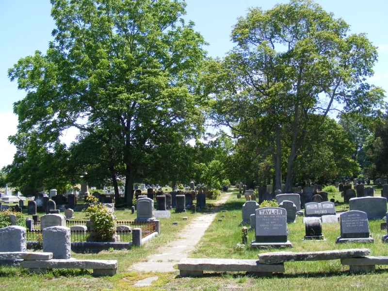 Union Cemetery with pathway down center