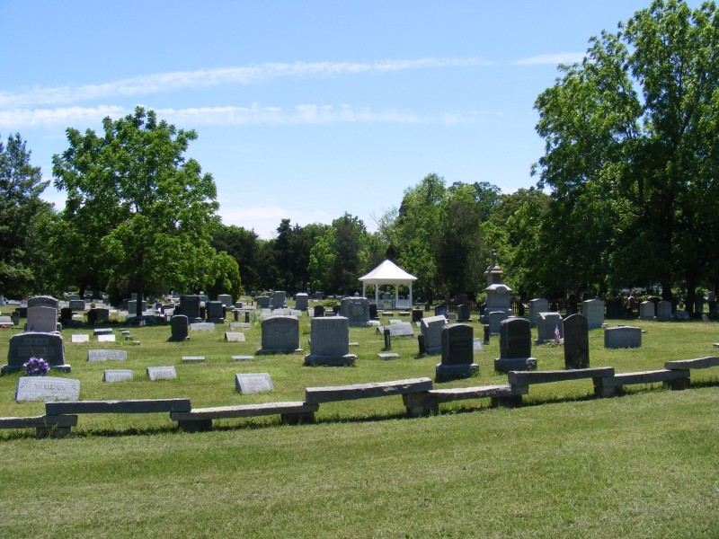 Union Cemetery with blue sky