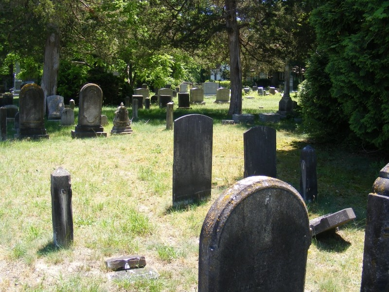 Union Cemetery with trees
